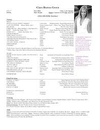 musical theatre resume template info resume examples child actor resume sample musical theatre resume