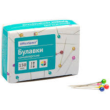 <b>Булавки</b> канцелярские <b>Officespace</b> 28мм, ассорти, <b>150шт</b>/уп цена