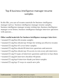 professional resume samples resume prime business intelligence top 8 business intelligence manager resume samples business intelligence developer resume example business intelligence analyst resume