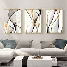 <b>NUOMEGE</b> Abstract Modern Creative Canvas Painting Ink Line ...