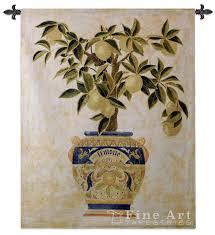 lemon tree x: italian lemon tree tapestry wall hanging botanical composition hquot x wquot