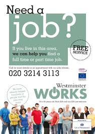 jobs westbourne neighbourhood forum need a job westminster works latest flyer