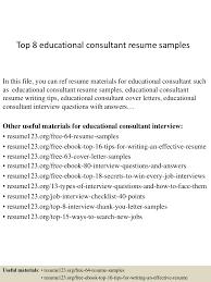 exhilarating marketing consultant resume brefash top 8 educational consultant resume samples marketing consultant marketing consultant resume