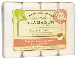 <b>Мыло</b> кусковое A La Maison de Provence Pure Coconut — купить ...