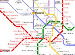 <b>Карта</b> метро <b>г</b>.<b>Милан</b>. <b>Схема</b> метрополитена: <b>Милан</b>.