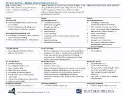 bnma   about us   workforce developmentindustrial mechanic skills matrix  electro mech  tech  skills matrix