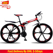 <b>DHL Fast Delivery Folding</b> Bicycle 27 30 Variable Speed Mountain ...