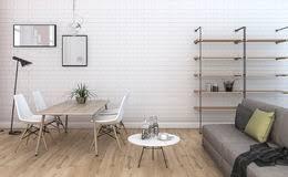 3d rendering nice vintage brick living room with built in furniture stock image built furniture living room