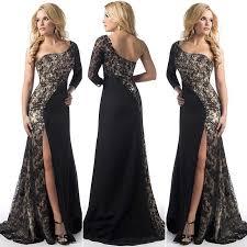 Party Dress <b>2019</b> Black <b>Evening Dress</b> Slit Charming <b>Banquet</b> ...