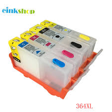 einkshop 364 364 XL <b>Refillable Cartridges</b> with Chip for <b>HP</b> deskjet ...