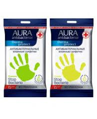 <b>Салфетки влажные</b> антибактериал <b>Aura Derma</b> Protect pocket ...