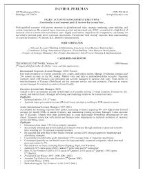 account manager resume samples resume format  receivable manager resume samples account