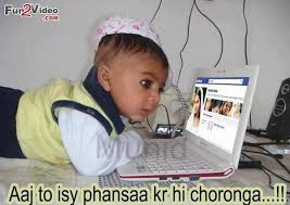 Funny baby pictures for facebook in hindi via Relatably.com