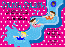 pool party birthday invitation water slide birthday pool party invitations 128270zoom