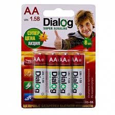 <b>Батарейка AA Dialog</b> LR6 Super Alkaline (8-BL)