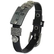 BRLTime Genuine Cow Leather Bracelets Cuff Charm ... - Amazon.com