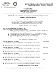 Sample Resume For Cna With No Previous Experience 2918true Cars