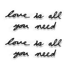 <b>Надпись декоративная Love is</b> all you need настенная черная от ...
