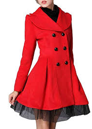 Buy SELX Women Lapel <b>Lace Hem Double Breasted</b> Trench Coat ...