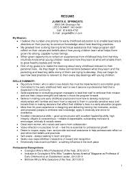 childhood educator resume template  seangarrette cochildhood educator resume template early childhood education
