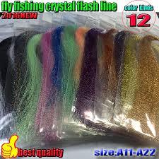 <b>2016NEW fly fishing crystal</b> flash line 10 bag/lot jig fishing line lure ...