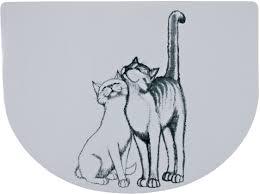"""<b>Коврик под миску Trixie</b> """"Кошечка"""", 40 х 30 см — купить в ..."""
