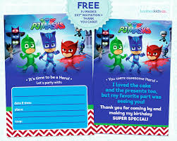 luvibee kids company pj masks invitation printable i even make a few more pj masks party printables in the very near future so make sure you check back for more