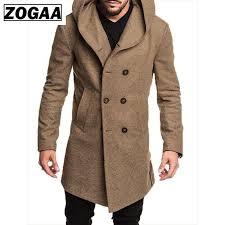 Top quality <b>Woolen</b> Coat <b>Men</b> British Style Double Breasted <b>Long</b> ...