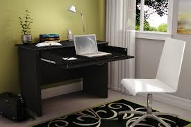 contemporary black finish oak wood office desk with shelf also homenedhomened decoration ideas tuscan home black white home office study