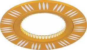 <b>Светильник Gauss</b> (Гаусс) Aluminium <b>AL017</b> Круг. Золото-Хром ...