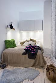 Small Double Bedroom Designs Captivating Small Scandinavian Apartment Bedroom Design With