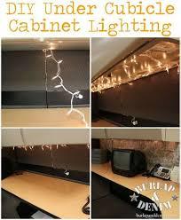 totally doin it diy under cubicle cabinet lighting burlapanddenim black modern metal hanging office cubicle