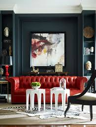 bold and dramatic with red black and white in this living room brilliant 14 red furniture