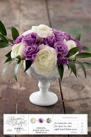 Blooms on a Budget #08: <b>Purple</b> and <b>White Flower</b> Centerpiece