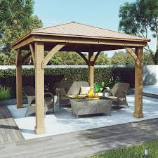 welcome to costco whole cedar wood 12 x 12 gazebo aluminum roof by yardistry