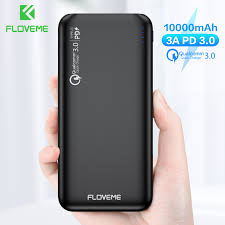 FLOVEME QC3.0 <b>Power Bank</b> 10000mAh Quick Charge 3.0 For ...