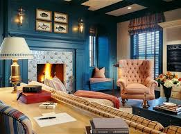 decorate living room blue