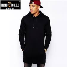 New Arrival <b>Free Shipping Fashion</b> Men's Long Black Hoodies ...