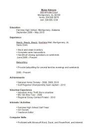 resumeexamplesforhighschoolstudents in examples of teenage resumes