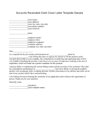 sample cover letter for accounts receivable resume sample accounts receivable analyst cover letter
