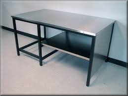 stainless kitchen work table: image of large stainless steel work bench