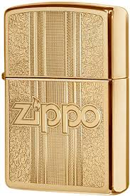 29677 <b>Зажигалка</b> Zippo and <b>Pattern Design</b>, Polish Brass