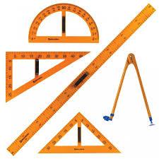 <b>Brauberg Набор чертежный</b> для классной доски (5 предметов ...