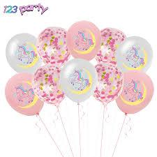 <b>10pcs Unicorn</b> Confetti Sequin Balloon Birthday Party <b>Baby Shower</b> ...
