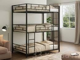 Купить <b>трехъярусную кровать Эверест</b> черный цена в СПб ...