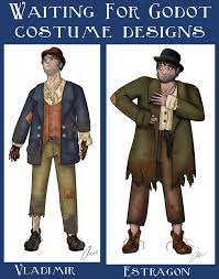 estragon s outfit is very important in the story he looks into jacket bowler bowler hat tattered jacket theses pictures godot help me worn waiting jackets