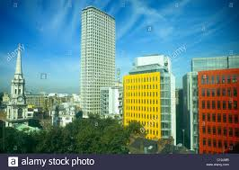 st giles in the fields church centre point bt tower and brightly coloured central brightly colored offices central st