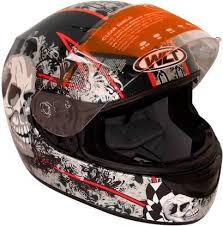 WLT 101 BLACK <b>SKULL Motorbike Helmet</b> - <b>Motorbike</b> - Flipkart
