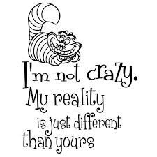 Wall Decals Alice in Wonderland Quote Decal <b>I'm not crazy</b> ...