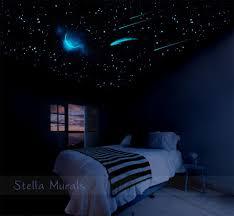 glow dark d stars moon